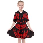 Demonic Laugh, Spooky red teeth monster in dark, Horror theme Kids  All Frills Chiffon Dress