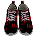 Demonic Laugh, Spooky red teeth monster in dark, Horror theme Mens Athletic Shoes