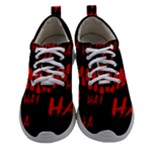 Demonic Laugh, Spooky red teeth monster in dark, Horror theme Athletic Shoes