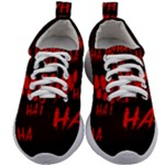Demonic Laugh, Spooky red teeth monster in dark, Horror theme Kids Athletic Shoes
