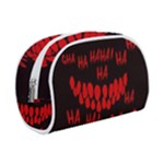 Demonic Laugh, Spooky red teeth monster in dark, Horror theme Makeup Case (Small)