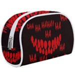 Demonic Laugh, Spooky red teeth monster in dark, Horror theme Makeup Case (Large)