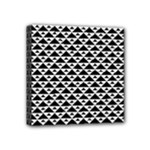 Black and white Triangles pattern, geometric Mini Canvas 4  x 4  (Stretched)