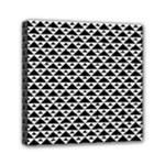 Black and white Triangles pattern, geometric Mini Canvas 6  x 6  (Stretched)