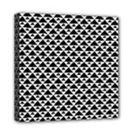 Black and white Triangles pattern, geometric Mini Canvas 8  x 8  (Stretched)