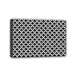 Black and white Triangles pattern, geometric Mini Canvas 6  x 4  (Stretched)