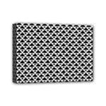 Black and white Triangles pattern, geometric Mini Canvas 7  x 5  (Stretched)