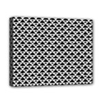 Black and white Triangles pattern, geometric Canvas 10  x 8  (Stretched)