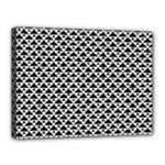 Black and white Triangles pattern, geometric Canvas 16  x 12  (Stretched)
