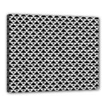 Black and white Triangles pattern, geometric Canvas 20  x 16  (Stretched)
