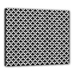Black and white Triangles pattern, geometric Canvas 24  x 20  (Stretched)