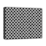 Black and white Triangles pattern, geometric Deluxe Canvas 20  x 16  (Stretched)