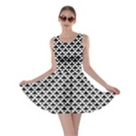 Black and white Triangles pattern, geometric Skater Dress