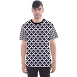 Black and white Triangles pattern, geometric Men s Sport Mesh Tee