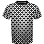 Black and white Triangles pattern, geometric Men s Cotton Tee