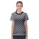 Black and white Triangles pattern, geometric Women s Sport Mesh Tee
