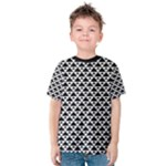 Black and white Triangles pattern, geometric Kids  Cotton Tee