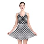 Black and white Triangles pattern, geometric Reversible Skater Dress