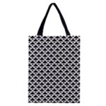 Black and white Triangles pattern, geometric Classic Tote Bag