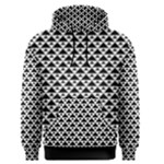 Black and white Triangles pattern, geometric Men s Core Hoodie