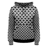 Black and white Triangles pattern, geometric Women s Pullover Hoodie
