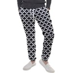 Black and white Triangles pattern, geometric Men s Jogger Sweatpants