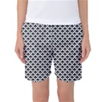 Black and white Triangles pattern, geometric Women s Basketball Shorts