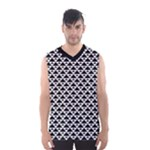 Black and white Triangles pattern, geometric Men s Basketball Tank Top