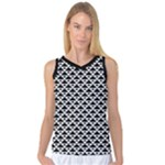 Black and white Triangles pattern, geometric Women s Basketball Tank Top