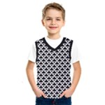 Black and white Triangles pattern, geometric Kids  Basketball Tank Top