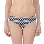 Black and white Triangles pattern, geometric Hipster Bikini Bottoms