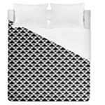 Black and white Triangles pattern, geometric Duvet Cover (Queen Size)