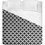 Black and white Triangles pattern, geometric Duvet Cover (King Size)