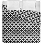 Black and white Triangles pattern, geometric Duvet Cover Double Side (King Size)