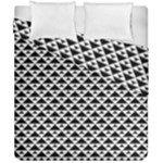 Black and white Triangles pattern, geometric Duvet Cover Double Side (California King Size)