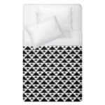 Black and white Triangles pattern, geometric Duvet Cover (Single Size)