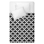 Black and white Triangles pattern, geometric Duvet Cover Double Side (Single Size)
