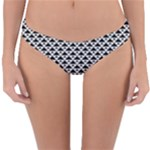 Black and white Triangles pattern, geometric Reversible Hipster Bikini Bottoms