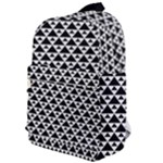 Black and white Triangles pattern, geometric Classic Backpack