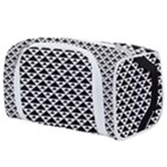 Black and white Triangles pattern, geometric Toiletries Pouch