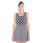 Black and white Triangles pattern, geometric Scoop Neck Skater Dress
