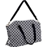 Black and white Triangles pattern, geometric Canvas Crossbody Bag