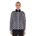 Black and white Triangles pattern, geometric Winter Jacket