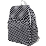 Black and white Triangles pattern, geometric Top Flap Backpack
