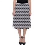 Black and white Triangles pattern, geometric Classic Midi Skirt