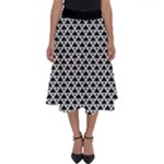 Black and white Triangles pattern, geometric Perfect Length Midi Skirt