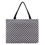 Black and white Triangles pattern, geometric Medium Tote Bag