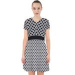 Black and white Triangles pattern, geometric Adorable in Chiffon Dress
