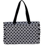 Black and white Triangles pattern, geometric Canvas Work Bag
