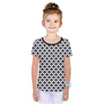 Black and white Triangles pattern, geometric Kids  One Piece Tee